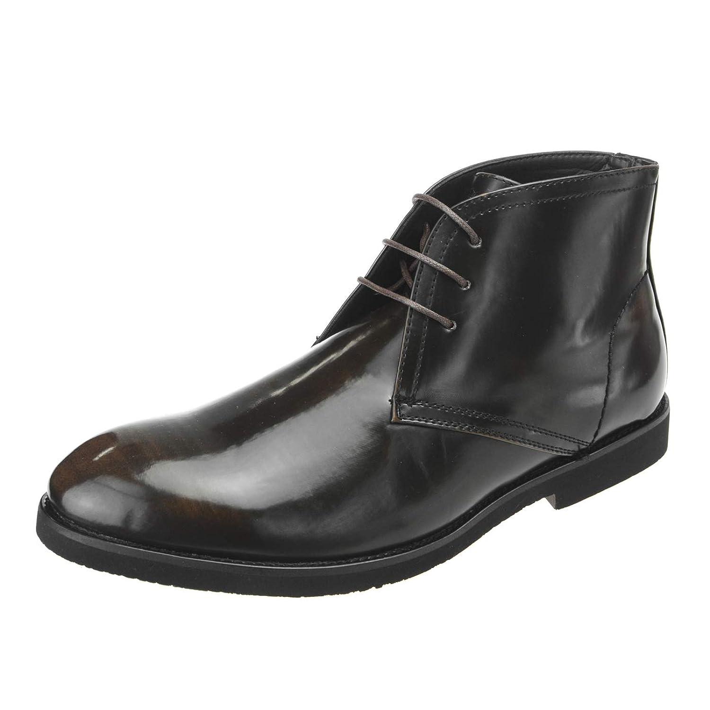 [エムエムワン] ショートブーツ メンズ チャッカブーツ 超軽量 黒 革靴 皮靴 カジュアルブーツ 走れる ビジネスシューズ