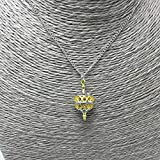 TAMNV Unique Pendant Necklace Gold Color Hollow Ball Charm Two Tone Liahona Necklaces with Steel Chain for Baptism Festival Gift