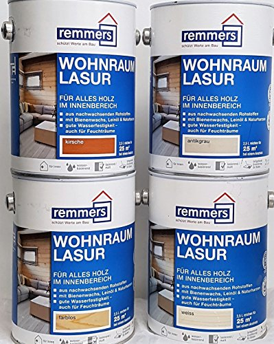 Remmers Wohnraum-Lasur - weiß 2.5ltr