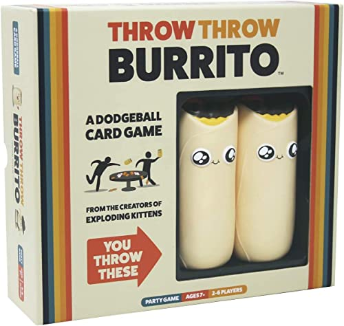 Throw Throw Burrito by Exploding Kittens - A Dodgeball Card Game - Family-Friendly Party Games - Card Games for Adult...