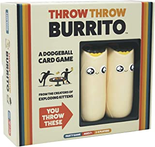 Throw Throw Burrito by Exploding Kittens - A Dodgeball Card Game - Family-Friendly Party Games - Card Games for Adults, Teens & Kids
