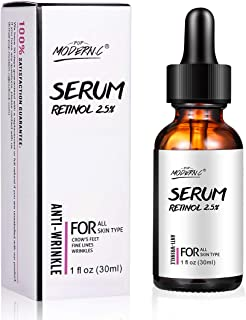 Retinol Serum 2.5% for Face & Skin Helps Reduce Appearance of Wrinkles, Fine Lines,Age Spots for Face, Eye Wrinkle Serum, Acne Serum with Vitamin E, Hyaluronic Acid, Joboba Oil(RETINOL)