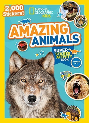 By National Geographic Kids - National Geographic Kids Amazing Animals Super Sticker Activity B (Act Stk) (2015-08-19) [Paperback]