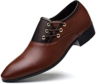 Men's Oxford Shoes Business Casual Formal Shoes (Color : Brown, Size : 44)