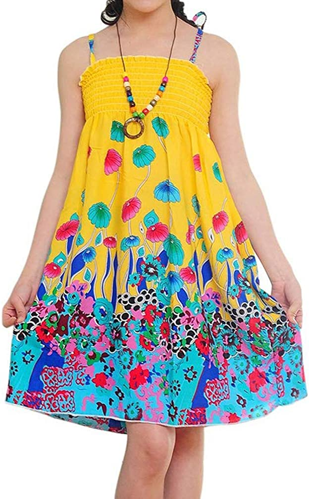 Max 64% OFF Kids Little Girls Summer Casual Bohemian Charlotte Mall Vacation Dress Sling Fl