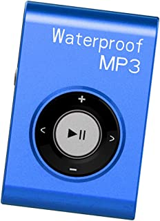 FITYLE Mp3 Music Player FM Radio Stereo Audio with Clip Lossless IPX8 Waterproof - Blue