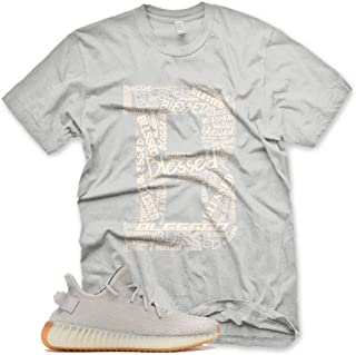 New_B_ BLESSED T Shirt for Adidas Yeezy Boost 350 v2 Sesame