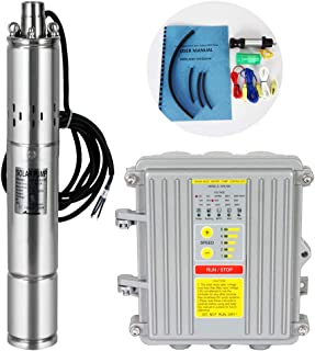 ECO LLC DC 24V Solar Screw Pump 3'' Deep Well Submersible Pump For Home/Commercial