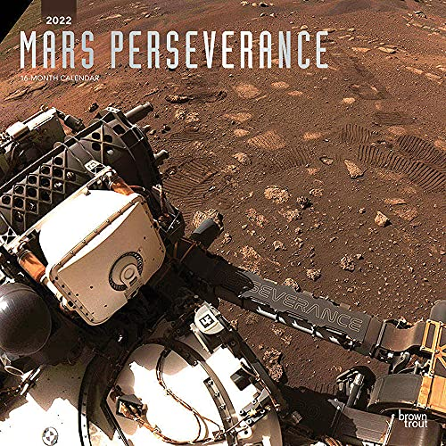 Mars Perseverance 2022 12 x 12 Inch Monthly Square Wall Calendar with Foil Stamped Cover, Astronomy Rover Space Exploration