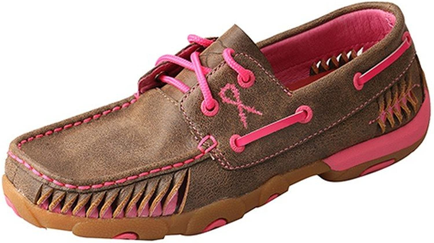 Twisted X Casual shoes Womens Lacing Driving Mocs Bomber Pink WDM0089