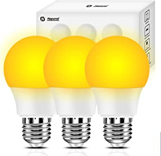 Neporal Amber Light Bulbs 3 Pack Night Light Bulbs 7W Blue Light Blocking Sleep Light Bulbs 1800K Gentle On Eyes for Sleep...
