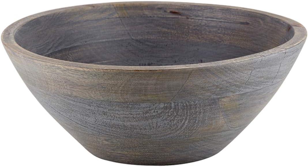 Creative Brands 47th & Main Gray Serving Bowl, Large, Mango Wood