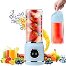 Portable Blender, TOPROAD Personal Smoothie Blender Cordless Mini Juicer Cup 420ML Fruit Small Juice Mixer with USB Rechar...