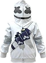 Sudadera con capucha para niños con cara sonriente y capucha y manga larga para DJ 3D