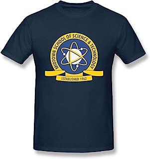 V-moni Men's Midtown School of Science & Technology Tee Short Sleeve Cotton T Shirt