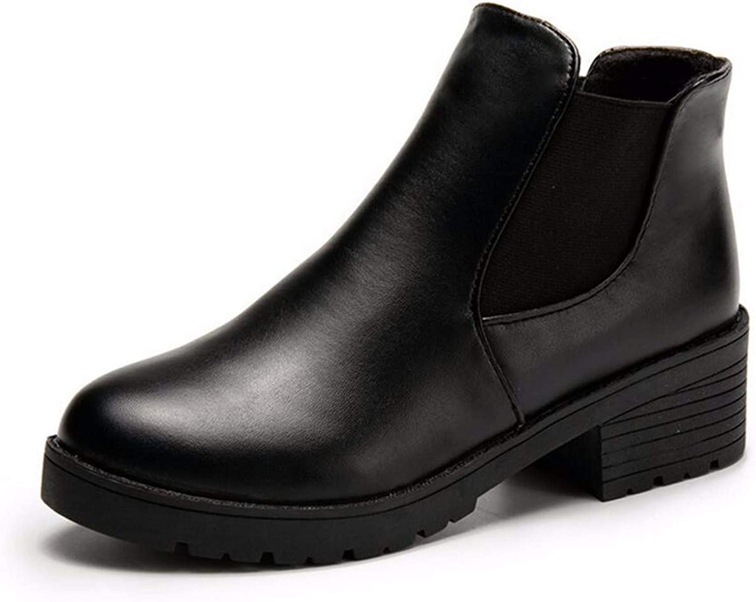 Martin Boots Women, Autumn and Winter, Rough and Korean Boots and Rough and Round Boots.