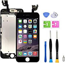 Screen Replacement Compatible with iPhone 6 Plus Full Assembly - LCD Touch Display Digitizer with Sensors and Front Camera...