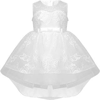 iEFiEL Abiti da Battesimo Neonata con Mutandine Cotone Abito da Principessa Elegante Vestito da Cerimonia Festa Compleanno...