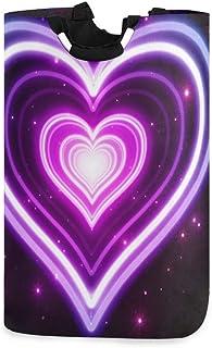 N\A Panier à Linge Seau Pliable s'effondre Panier à Linge Violet Amour bac à Laver pour Organisateur de Maison Stockage de...