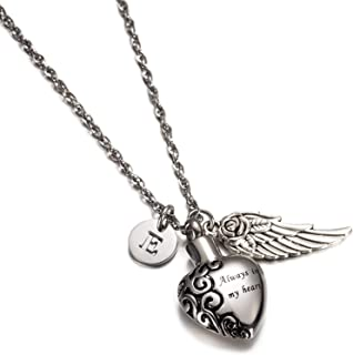 Aokarry Mens Womens Stainless Steel Necklace Lock Our Love Ring Pendant CZ 18-26 Chain