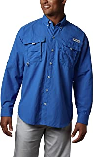 Columbia Sportswear Men's Bahama II Long Sleeve Shirt, Vivid Blue, 1X