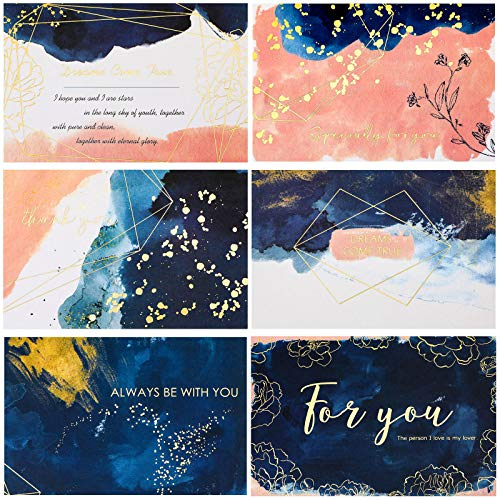 36 Sets Inspirational Greeting Cards Watercolor Note Cards with Envelopes Thank You Cards Friendship Greeting Note for Appreciation, Mother's Day, Graduation, Birthday, Wedding