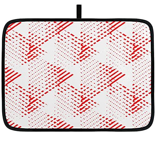 Alfombrillas de Cocina de 18x16 Pulgadas / 24x18 Pulgadas Alfombrilla de Cocina de Arte Triangular Moderno Abstracto para encimera Absorbente Fácil Limpieza Alfombrilla de Secado de Uso múltiple para