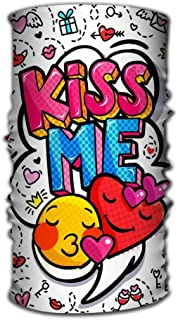 venda Multi Function Magic Scarf Constructed with High Performance Rotating Illusion Tube Mask kiss me word bubble message pop art comic style hand drawn hearts kiss me word bubble Psychedelic