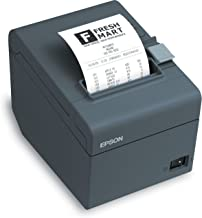 Epson C31CD52A9972 Series TM-T20II Front Loading Thermal Receipt Printer, MPOS, Serial Interface, PS-180 Included, Energy Star Compliant, Dark Gray