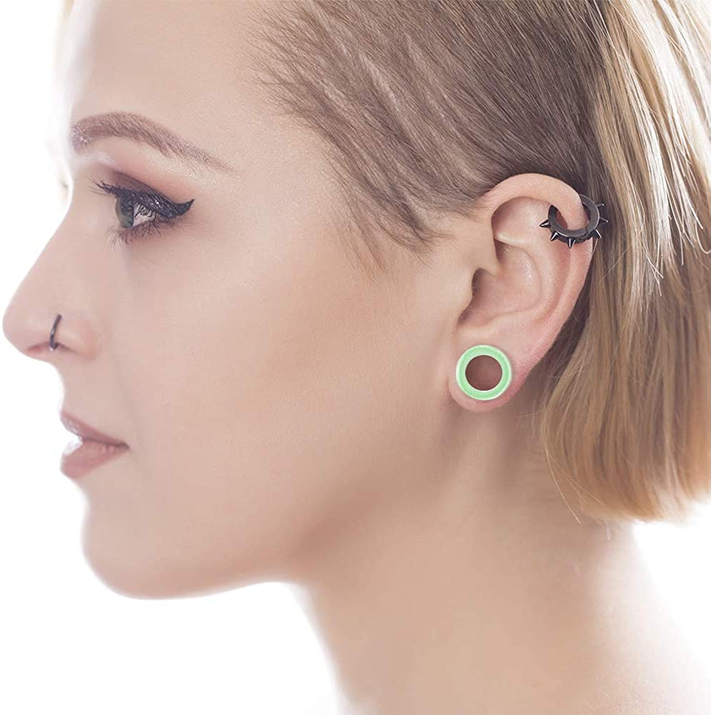 WBRWP 28//20pcs 8g-1 Ear Stretching kit Set Hollow Hard Silicone Plugs and Tunnels Ear Expander Gauges Stretcher Body Piercing Jewelry