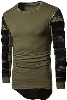 Wobuoke Men's Long Sleeve Multicolor Camouflage Printed Pullover Sweatshirt Top Tee Outwear Blouse