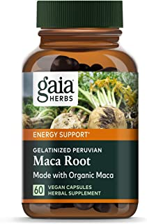 Gaia Herbs Maca Root Capsules, Vegan Gelatinized, 60 Count - Supports Energy, Stamina, Healthy Libido & Hormone Balance, M...