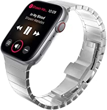 KADES Compatible for Apple Watch Band 42mm, Link Bracelet for Apple Watch Band 44mm Series 5 Series 4 iwatch Bands 42mm with Butterfly Clasp (Silver)