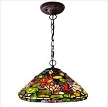 Low Price Table Lamp Bedside Lamp Crystal Chandelier Ceiling Light Wall Spotlight Wall Lights Chandelier 16 Inches Water Lily Pattern Stained Glass Ceiling Pendant Light,Hallway Bedroom Living Room