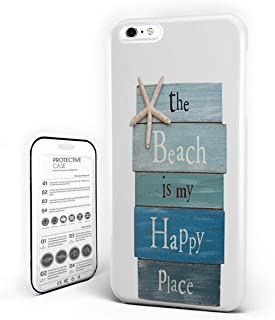 Customize Phone Protective Cover The Beach is My Happy Place Ultra Slim Protective Hard Plastic Case Cover for Cover Phone Case for iPhone 7/8