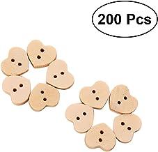 Mackur Handmade bottoni in legno naturale con lettera cuore modello Button cucito scrapbooking fai da te artigianale 24/pezzi