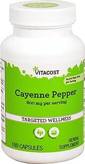 Vitacost Cayenne Pepper - 600 mg per Serving - 180 Capsules