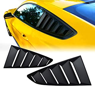Allinoneparts Matte Black GT 5 Vents Style Quarter Side Window Scoop Louvers for Ford Mustang 2015 2016 2017