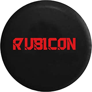 Rubicon Hard Rock Climbing Spare Tire Cover fits SUV Camper RV Accessories Red Ink 33 in
