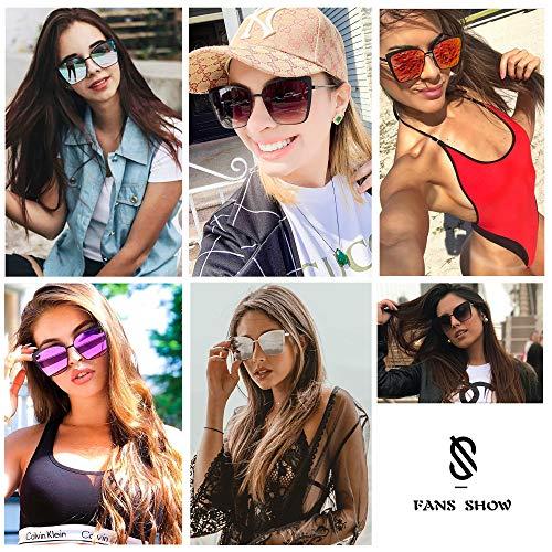 SOJOS Occhiali da Sole Donna Oversize Specchiati
