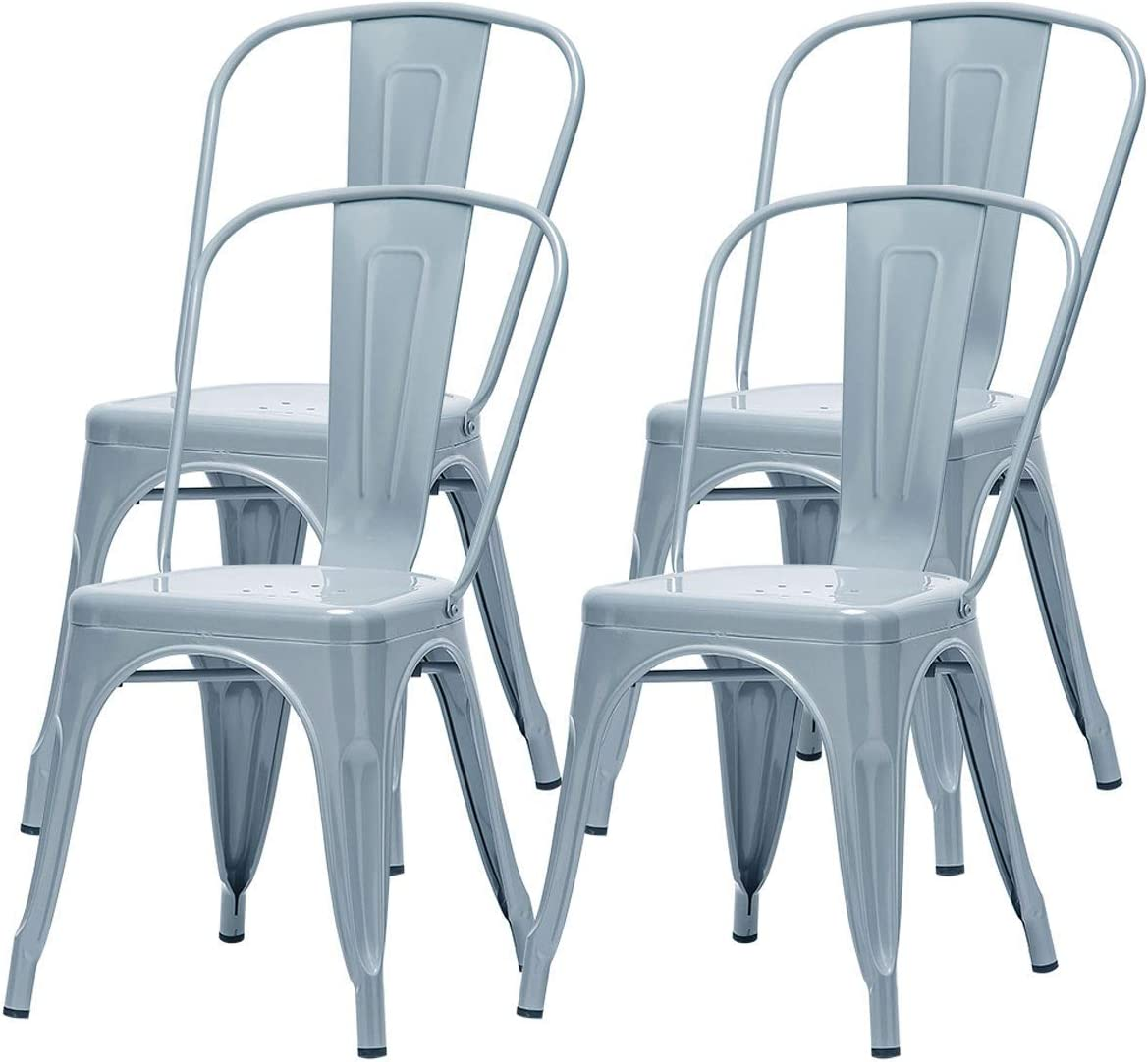 Metal Dining Chair Home Indoor Outdoor Set Sta 4 Virginia Beach Mall Patio of Popular product