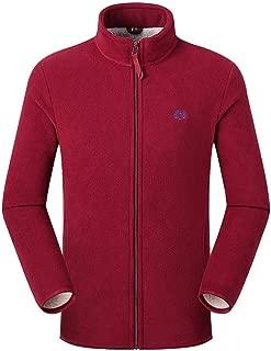 Couples Fleece Coat Beautyfine Autumn Winter Double-Sided Thickening Zipper Stand Collar Outdoor Sport Outwear