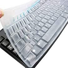 Ultra Thin Desktop PC Silicone Clear Keyboard Cover Skin Protector Compatible for Logitech MK270 Wireless Keyboard & Logitech K200 K260 K270 MK200 MK260 Keyboard (NOT for Other Desktop Keyboards)