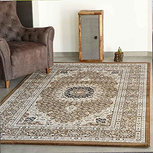 VIMODA Klassisch Orient Teppich dicht gewebt in Dunkel Braun, Maße:120 x 170 cm