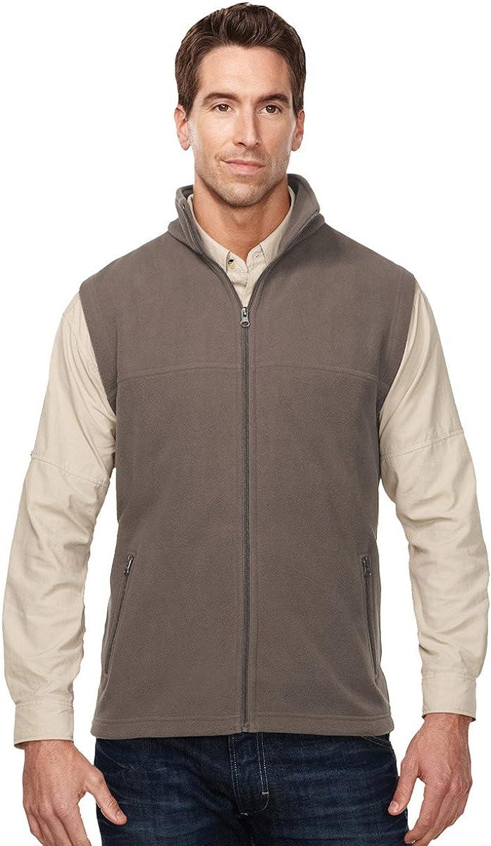 Tri-Mountain Men's Anti-Pilling Performance Fleece Zippered Expedition Vest (5 Colors,S-4XLT)