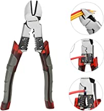 Side Cutting Pliers, Industrial Pliers with Wire Stripper/Crimper/Cutter Function, Heavy..