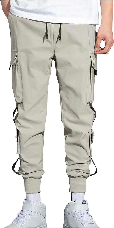 New popularity QTOCIO Mens Cargo Pants Overalls Large Loose Men's San Antonio Mall Casual Harlan