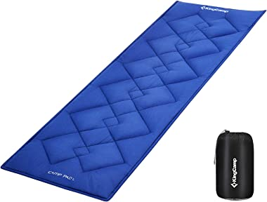 """KingCamp XL Cot Pad for Camping 80""""x30"""", Soft Cotton Oversized Sleeping Mat, Camping Cot Mattress Pad Floor Guest Bed Portabl"""