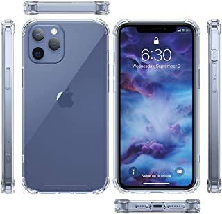 Clear Case For iPhone 12 Pro Max Transparent Cover TPU Protective with 4 Corners Bumper Shockproof Protection and Soft Scr...