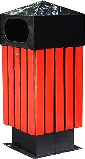 Compost bin kitchen/garbage can outdoor الفولاذ الخشب بالارسلات سلة المهملات في الهواء الطلق لوحة القمامة راحة يمكن الإبدا...